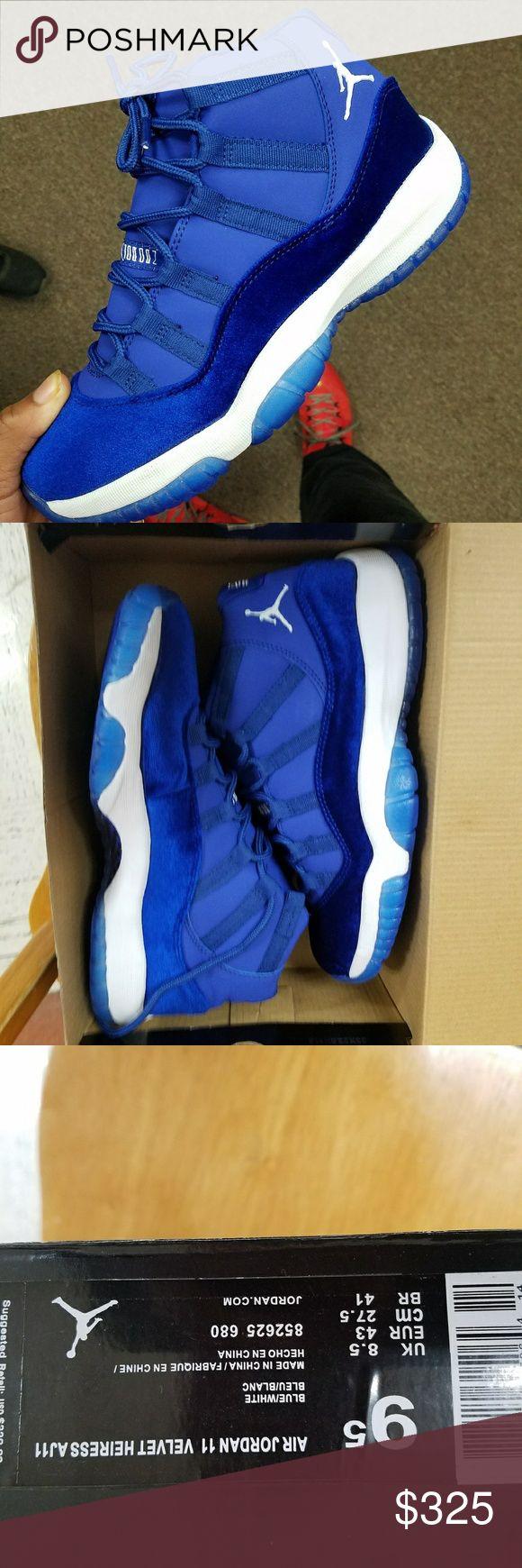 Custom Blue Jordan Heiress 11s Brand new. Never been worn. Jordan Shoes Sneakers