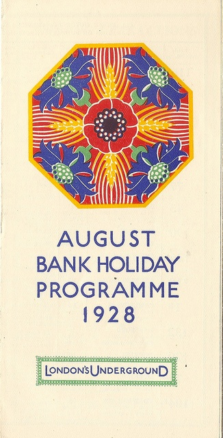 London Underground Group - August Bank Holiday leaflet, 1928 by mikeyashworth, via Flickr