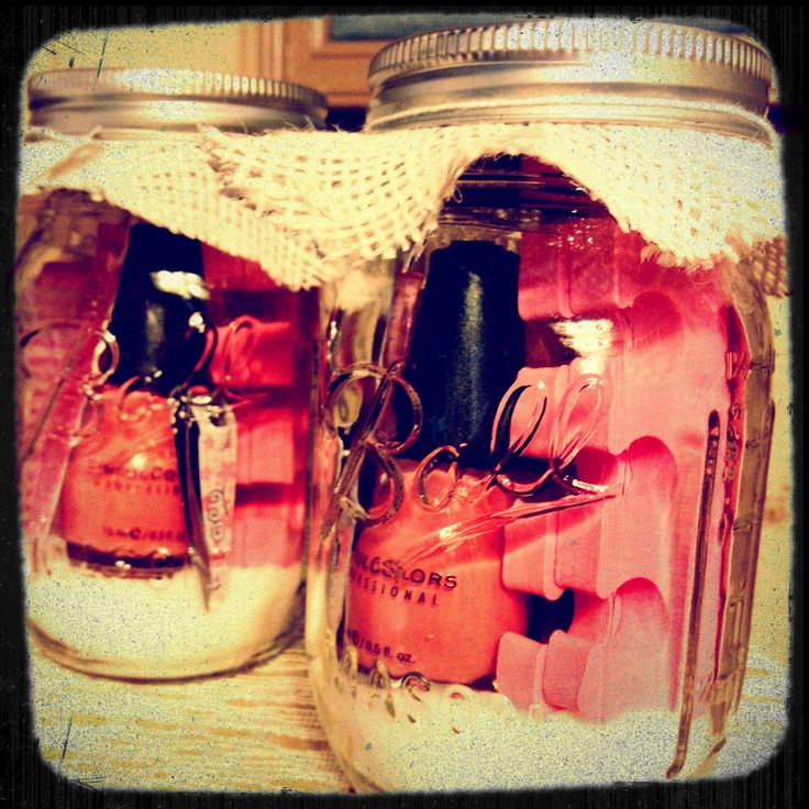 Manicure in a jar, prefect bridesmaid or birthday gift!