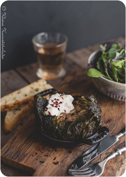Ofendolma mit Joghurt-Fetasauce