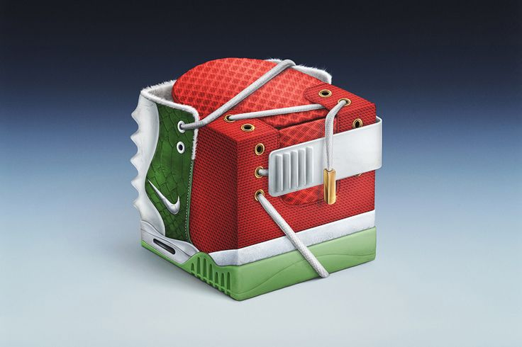 Sneakercube: Nike Air Yeezy 2 Christmas Edition I haven't quite figured this out #packaging PD