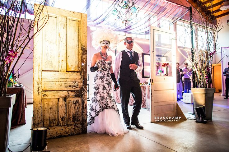 Urban Masquerade - Design by Site 6 Events  www.site6events.com #rustic #vintage #wedding