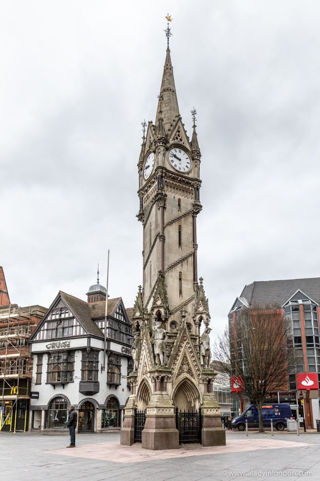 Beautiful clock tower in Leicester, England