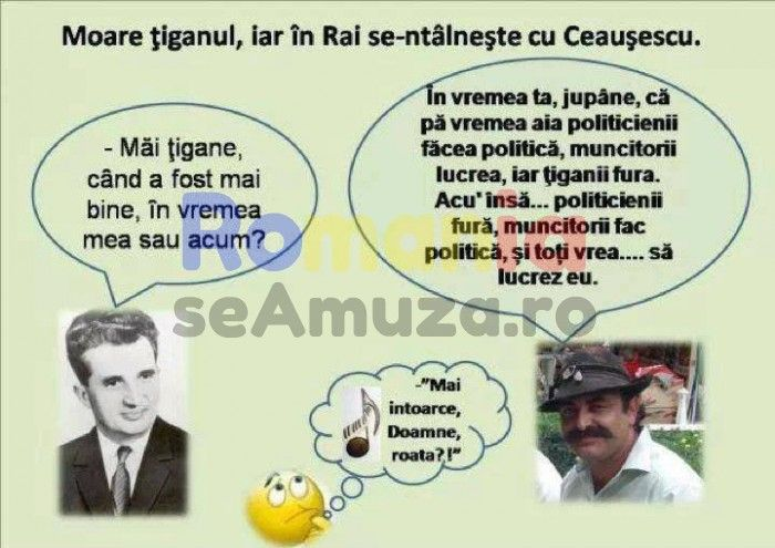 Tiganii si Ceausescu / Poze cu tigani
