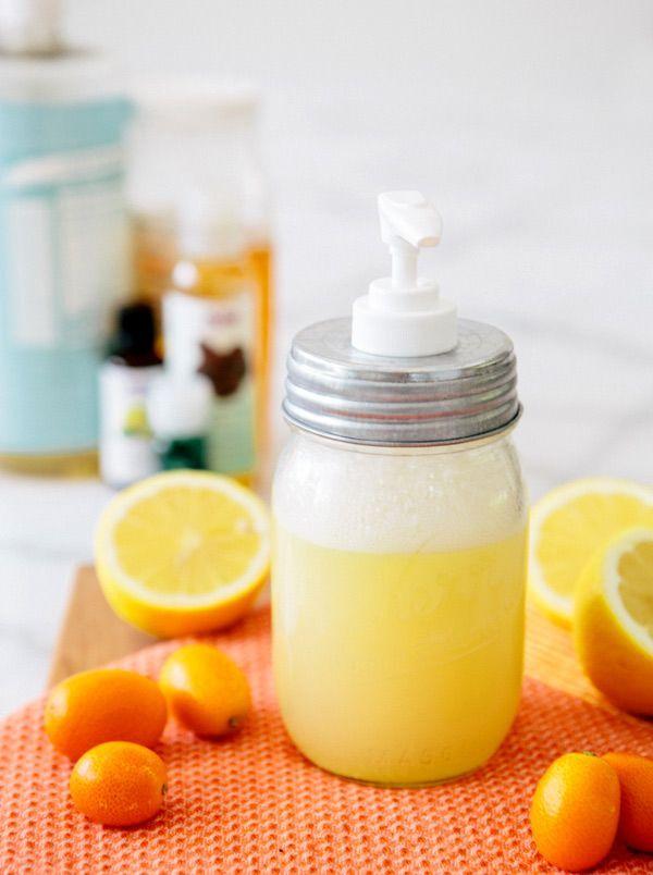 limón y miel espuma para lavar la cara