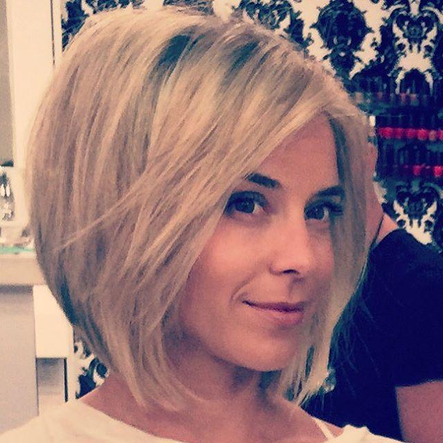 Easy short bob haircut for thick hair