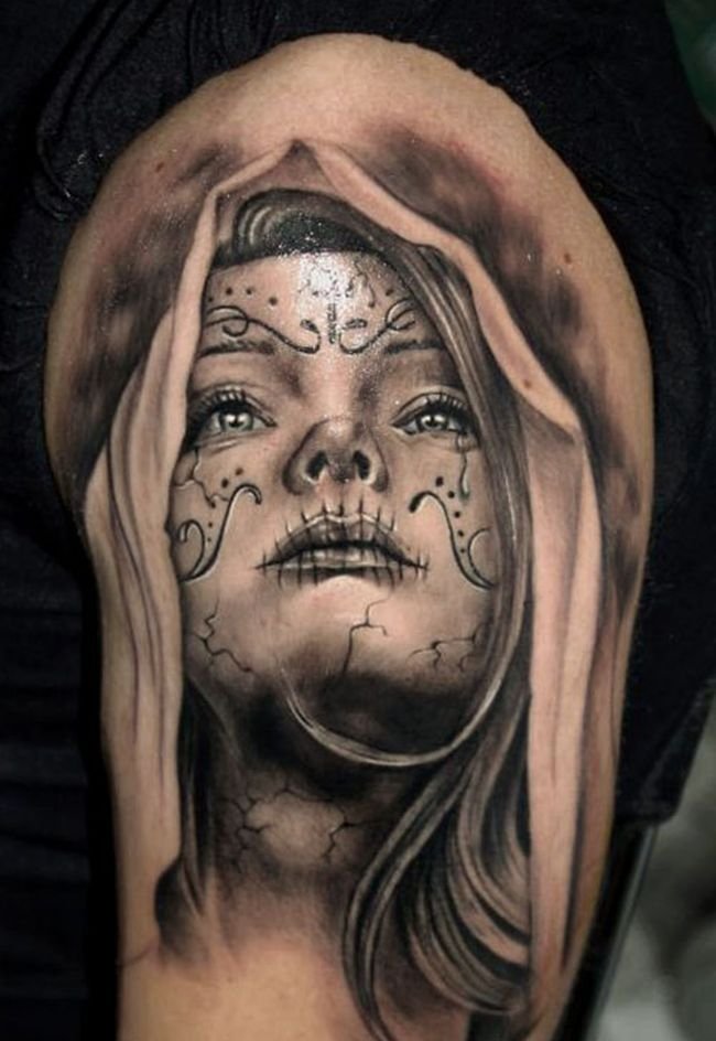 Dia De Los Muertos Ink - Black & Grey Tattoo 30