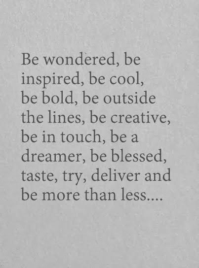 be more than less..