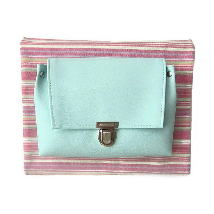 Festival bag mint - handmade pastel bag