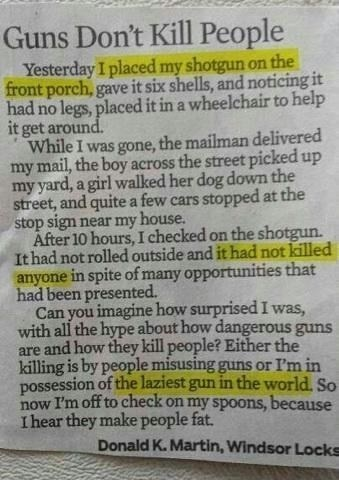 Guns Don't Kill People, People With Guns Kill People - LOVE this!!!