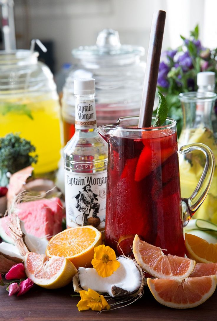 A pitcher of The Shark Puncher with Captain Morgan is the perfect +1 to any summer party. Yes, please! (Captain Morgan® Coconut Rum, cranberry, orange and ruby red grapefruit juice)