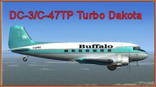 Braddick DC-3/C-47TP Turbo DakotaFSX Freeware von Andrew Brown & Manfred Jahn