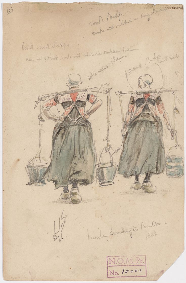 Bunschoten, drawing by Jan Hoynck van Papendrecht, 1888