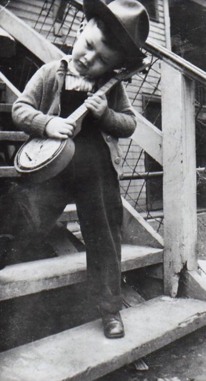 Young Robbie Robertson at home.