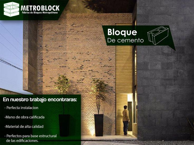 Diseños arquitectónicos, decoración externa Bloques de cemento.