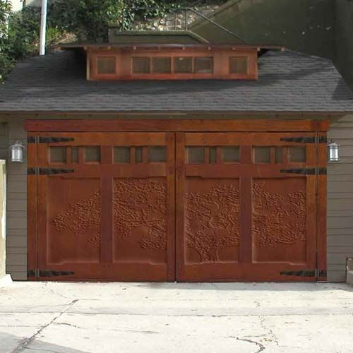 54 Cool Garage Door Design Ideas Pictures: Garage Wood Door Its Ornate