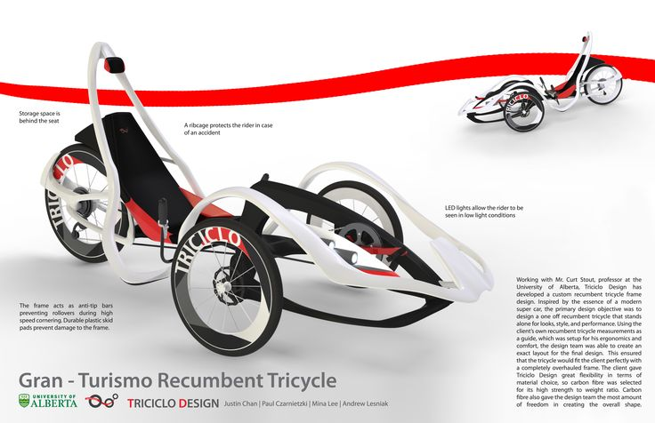 Gran Turismo Recumbent Tricycle by Justin Chan at Coroflot.com