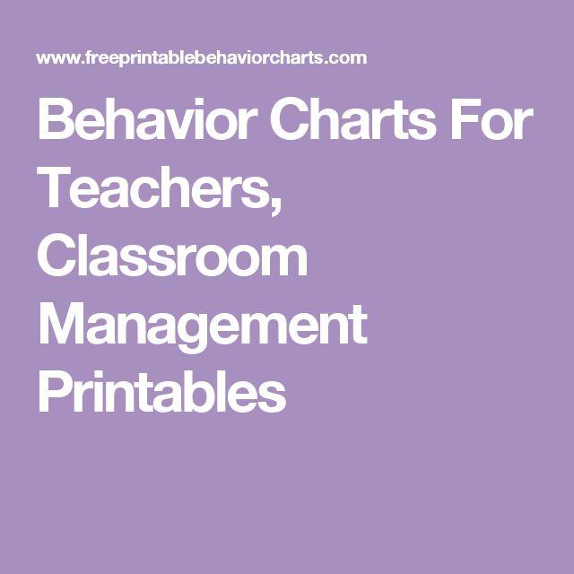 Behavior Charts For Teachers, Classroom Management Printables