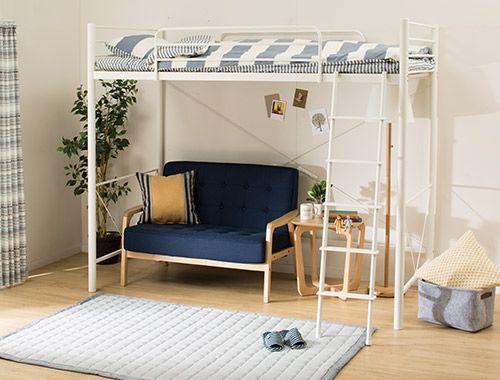 おすすめベッド特集 | ニトリ公式通販 家具・インテリア・生活雑貨通販 ... 床板までの高さが約140cmありますので、デスクやソファ、収納、TVボードなど、ベッド下のレイアウトも自由自在。