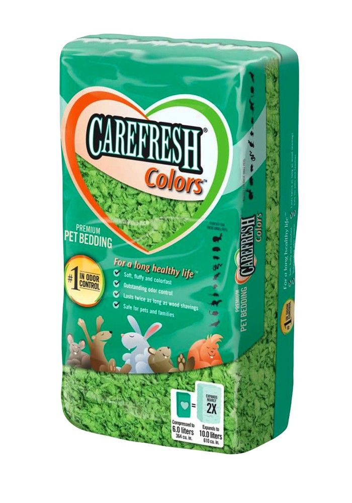 Carefresh Pet Bedding Confetti Colors Green