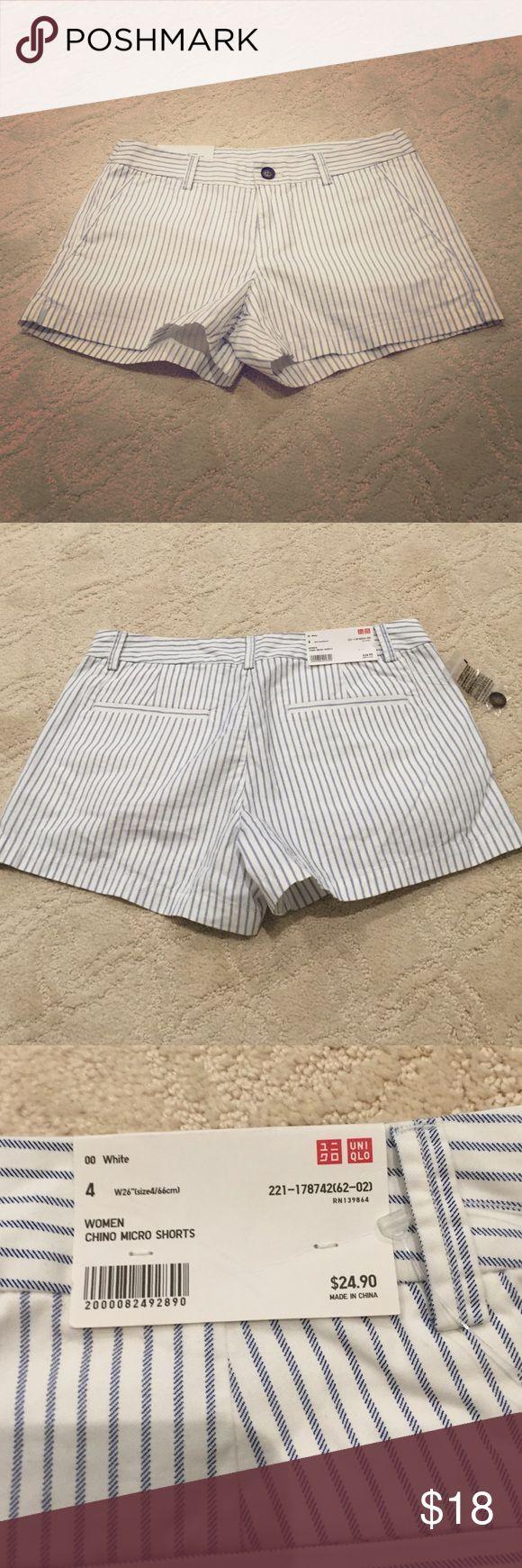 NWT blue and white uniqlo shorts New uniqlo chino micro shorts size 4 UNIQLO Shorts