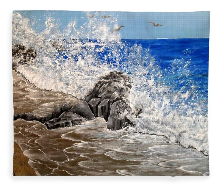 Fleece blanket, bed decor, home,accessories,bedroom,decor,cool,unique,fancy,artistic,trendy,unusual,awesome,beautiful,modern,fashionable,design,for,sale,items,products,ideas,blue,grey,coastal,waves,sea, fine art america