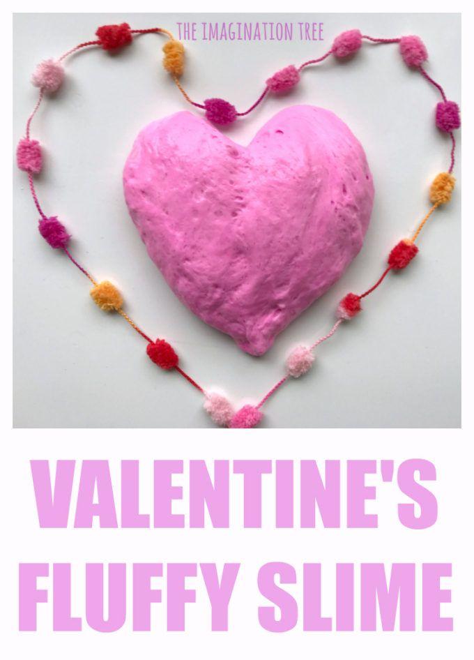 Valentine's Fluffy Slime Recipe!