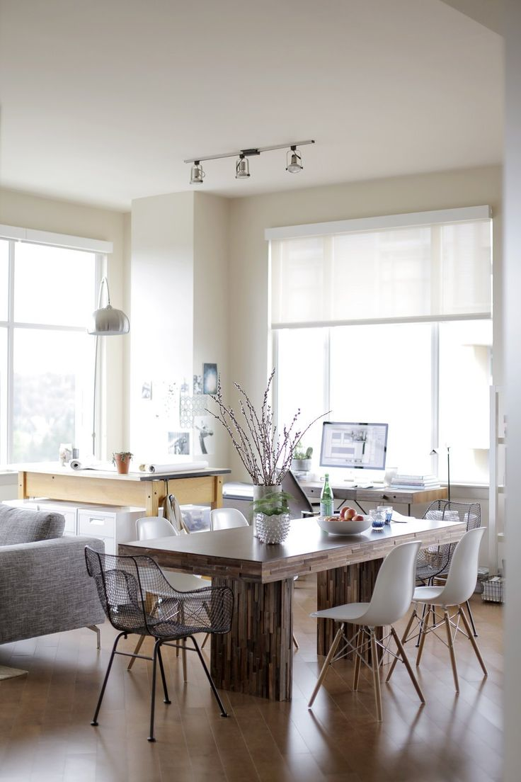 Paint colors that match this Apartment Therapy photo: SW 7505 Manor House, SW 2926 Iron Gate, SW 7670 Gray Shingle, SW 7023 Requisite Gray, SW 7006 Extra White