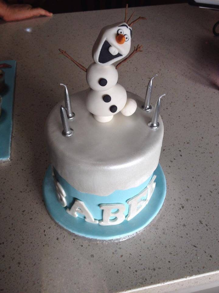 Frozen, Olaf cake