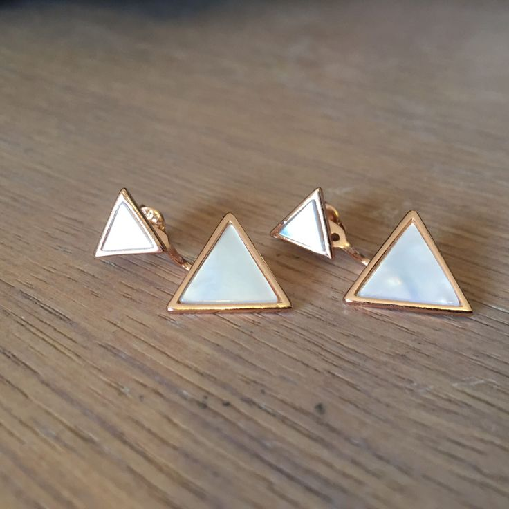 A personal favorite from my Etsy shop https://www.etsy.com/listing/498665154/triangle-shaped-ear-jacket-earrings