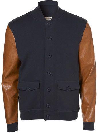 Damn Topman this is pretty clean: Varsity Jackets, Baseball Jackets, Topman Navy, Men Style, Topman Jersey, Men Fashion, Jackets But, Men'S Hoodie, Navy Jersey
