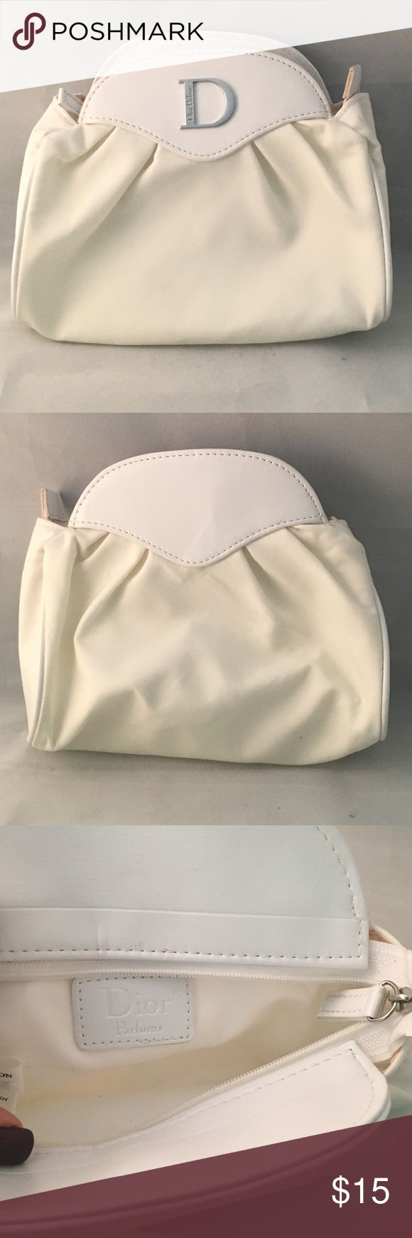 Dior Cosmetic/Perfume Bag Gently used - has some discoloration (shown in photos) Dior Bags Cosmetic Bags & Cases
