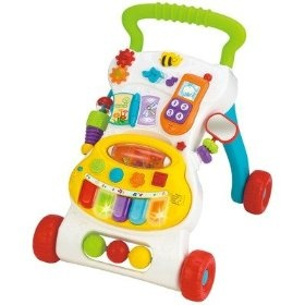 Winfun Grow With Me Musical Walker, (baby walker, push toy, walker, toys, toddler toys, activity center, fisher price, infant learning, wooden toys, activity table)