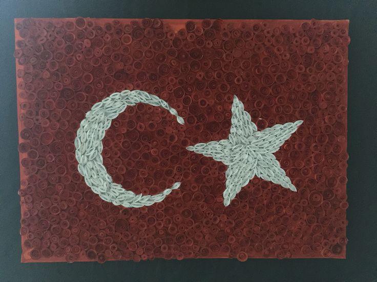 Quiling türk bayrağı