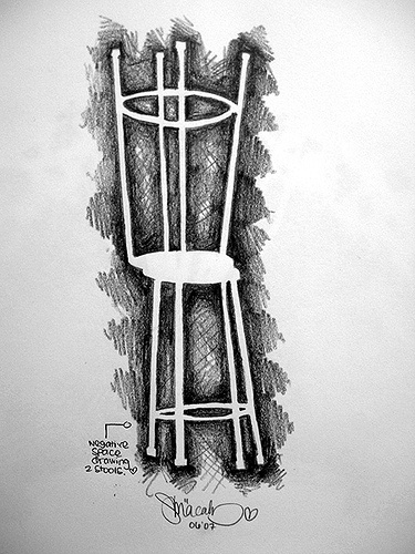 negative space stools by loliminx, via Flickr