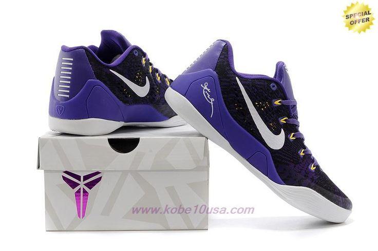 Purple/White 653972-601 Nike Kobe 9 EM Mens On Cyber Monday