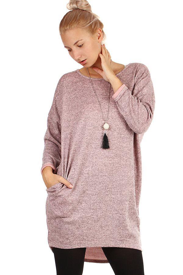 55cad67af29e Dámské krátké volné zimní šaty s dlouhými rukávy - koupit online na Glara.cz