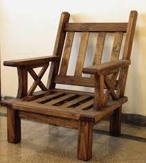 Resultado de imagen para sillones de madera rusticos