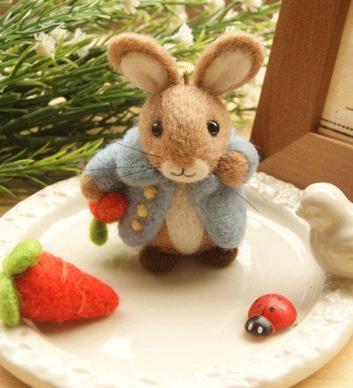 Love this diy peter rabbit kit http://www.etsy.com/listing/165968748/diy-needle-felting-kit-diy-handmade
