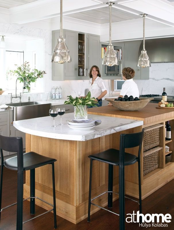 Pared down sophistication utility island finished in for Kitchen design 8 x 16