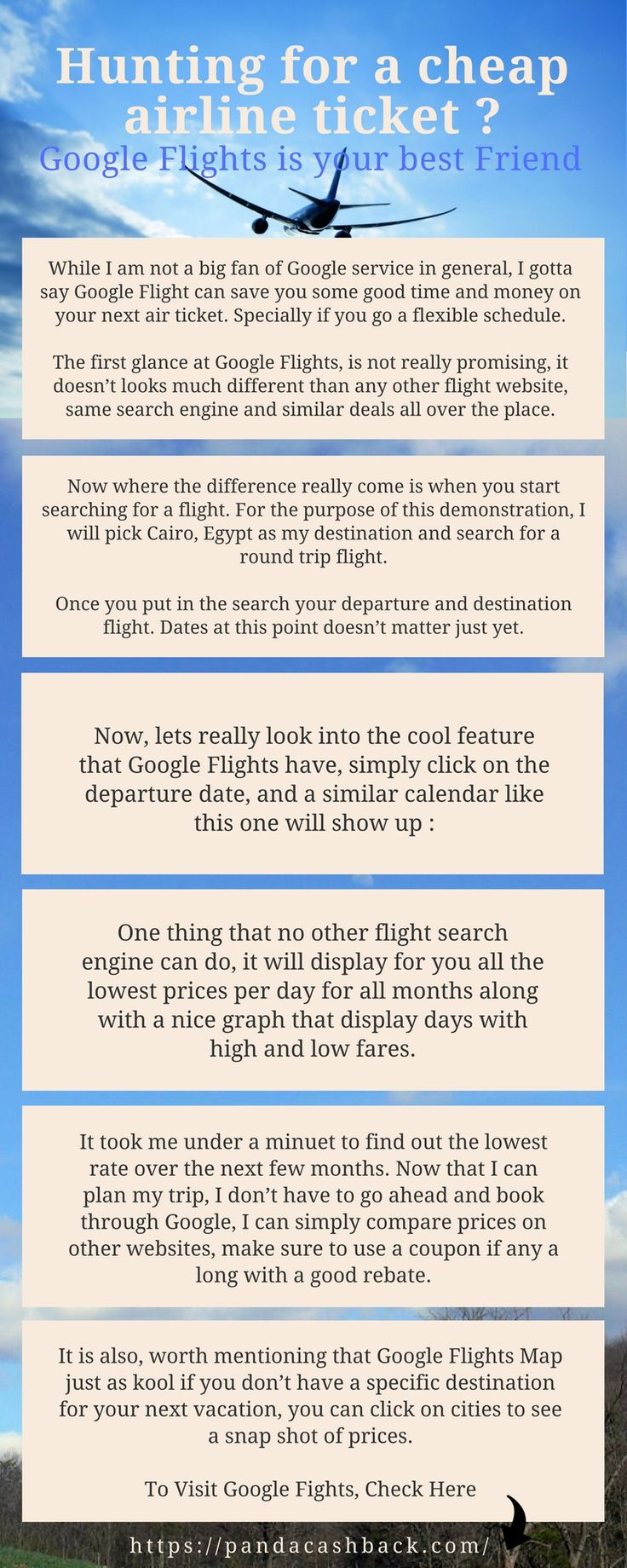 One thing that no other flight search engine can do, it will display for you all the lowest prices per day for all months along with a nice graph that display days with high and low fares.