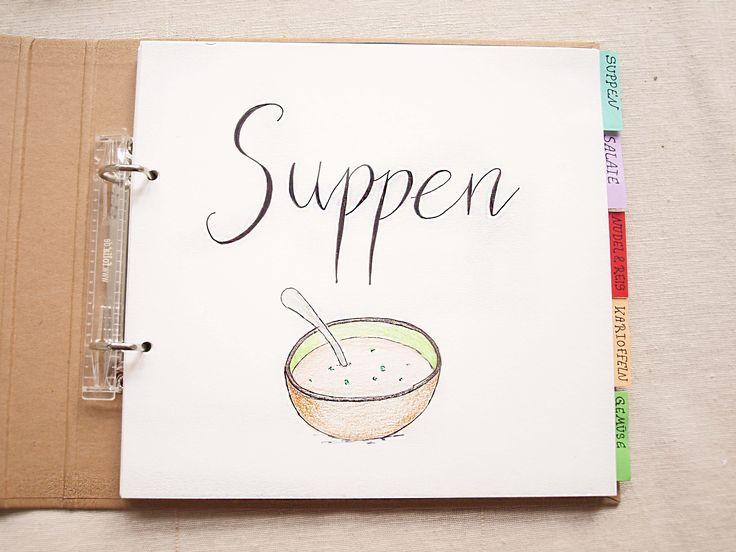 DIY Kochbuch mit Tafelfolie1Einkaufsliste2Notizen3Kategorien gestalten4Rezepte gestalten5Ringbuch gestalten