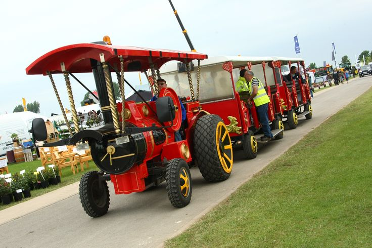 All aboard the Landtrain at the 2013 Lincolnshire Show!