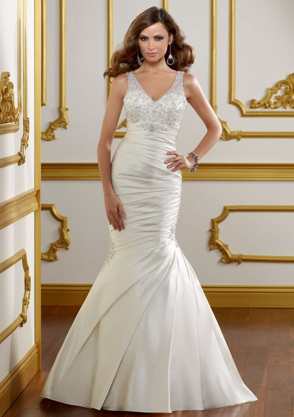 65 best Mori Lee Gowns images on Pinterest | Short wedding gowns ...