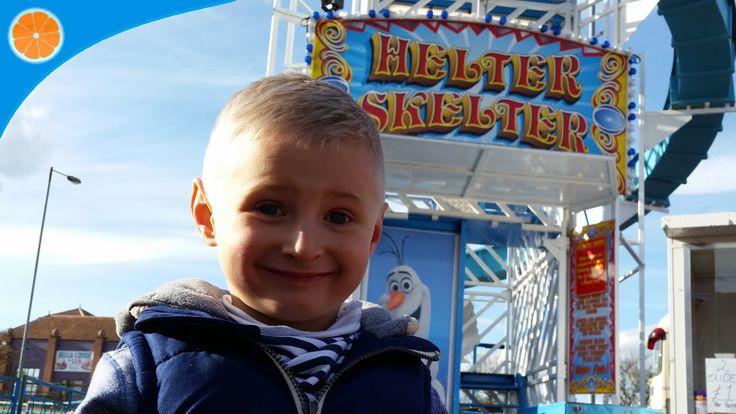 Fun Fair Helter Skelter (big slide) & Obstacle course POV kids friendly ...