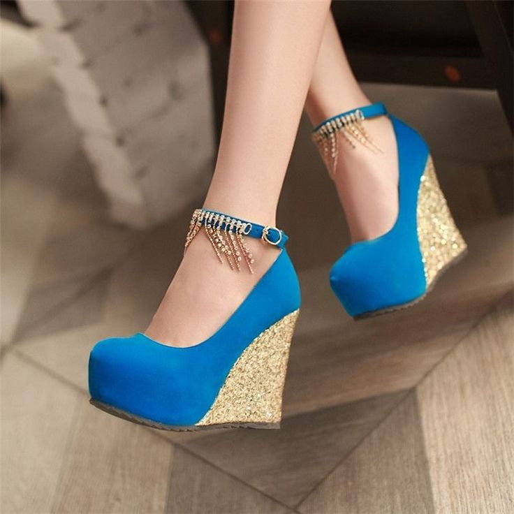 Womens Elegant Close Toe Pumps Wedge Heels