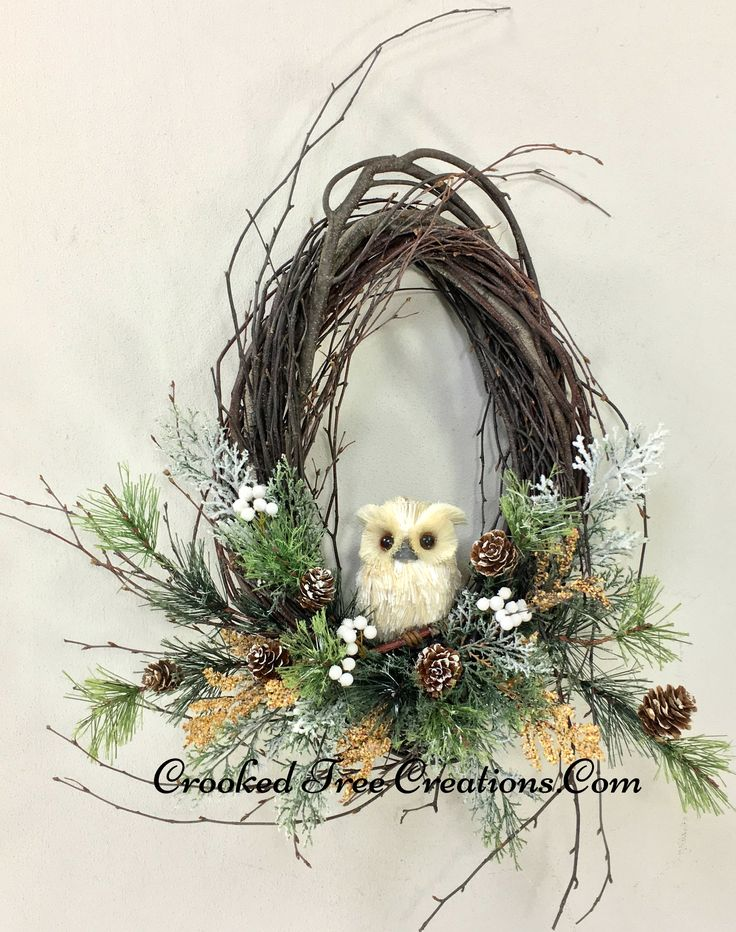 Small Birch Wreath With Owl                                                                                                                                                                                 More