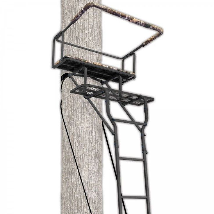 Ladder Tree Stand 2 Man With Seat And Shooting Rail Outdoor Hunting Treestand #Ameristep