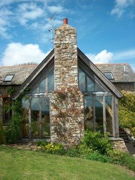 Stone, oak and glass