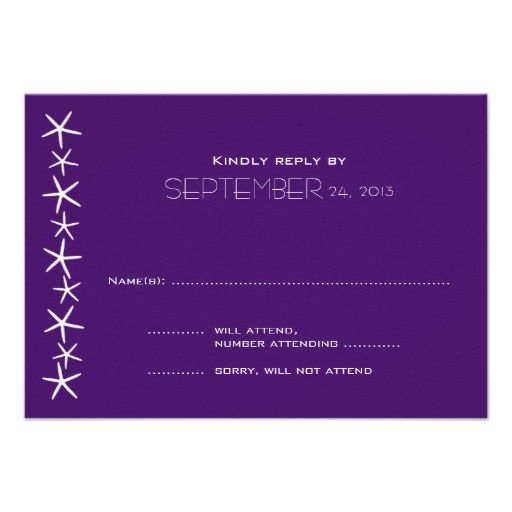 Discount DealsPurple Starfish Wedding Reply Cards Custom Invitationlowest price for you. In addition you can compare price with another store and read helpful reviews. Buy